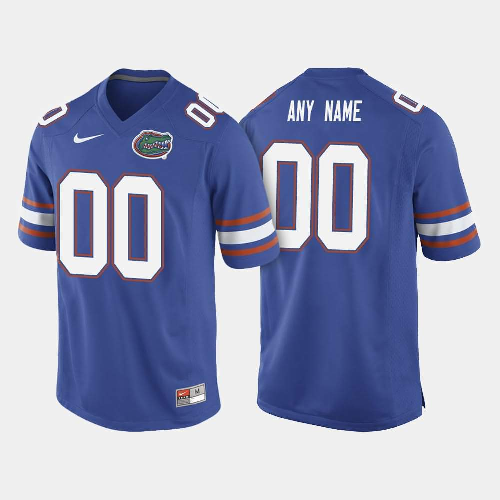 Men's Florida Gators #00 Custom Royal Blue Nike NCAA College Football Jersey QLJ245HJ