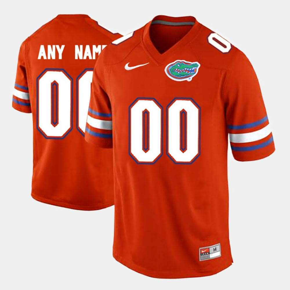 Men's Florida Gators #00 Custom Limited Orange Nike NCAA College Football Jersey NRW305TJ