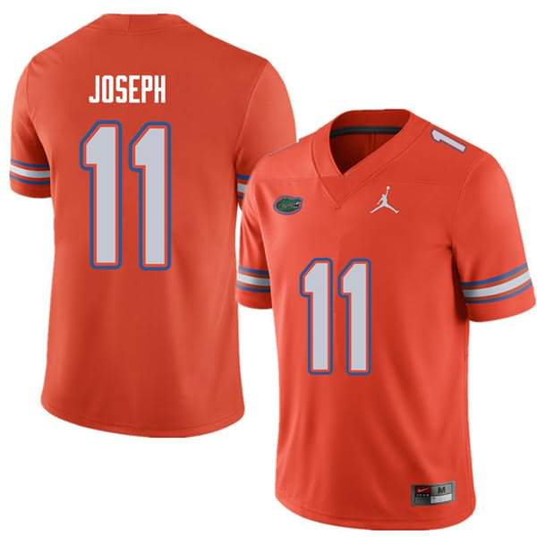 Men's Florida Gators #11 Vosean Joseph Orange Jordan Brand NCAA College Football Jersey SKL237PJ