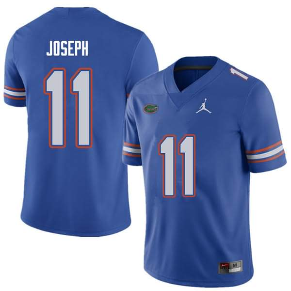Men's Florida Gators #11 Vosean Joseph Royal Jordan Brand NCAA College Football Jersey QXE646HJ