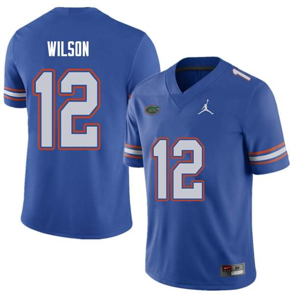 Men's Florida Gators #12 Quincy Wilson Royal Jordan Brand NCAA College Football Jersey YPC603EJ