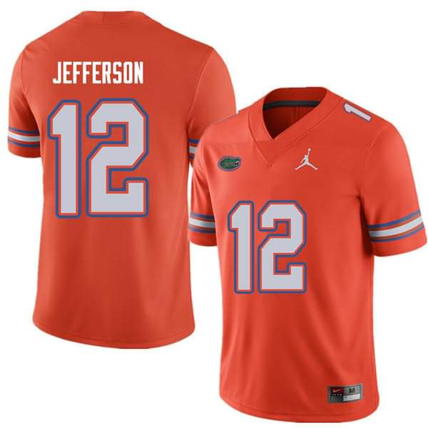 Men's Florida Gators #12 Van Jefferson Orange Jordan Brand NCAA College Football Jersey WSO407FJ