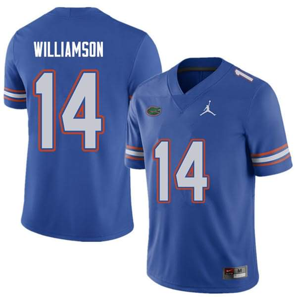 Men's Florida Gators #14 Chris Williamson Royal Jordan Brand NCAA College Football Jersey USK138CJ