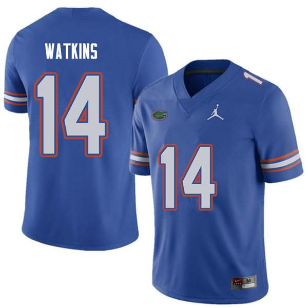 Men's Florida Gators #14 Justin Watkins Royal Jordan Brand NCAA College Football Jersey OCY716AJ