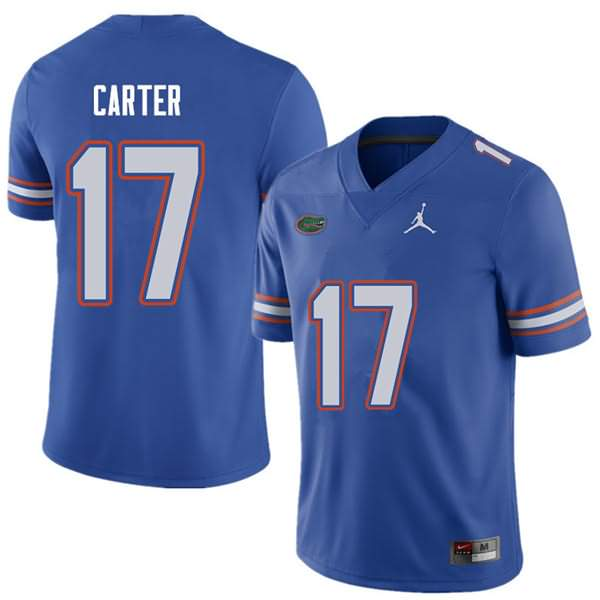 Men's Florida Gators #17 Zachary Carter Royal Jordan Brand NCAA College Football Jersey GWZ478PJ