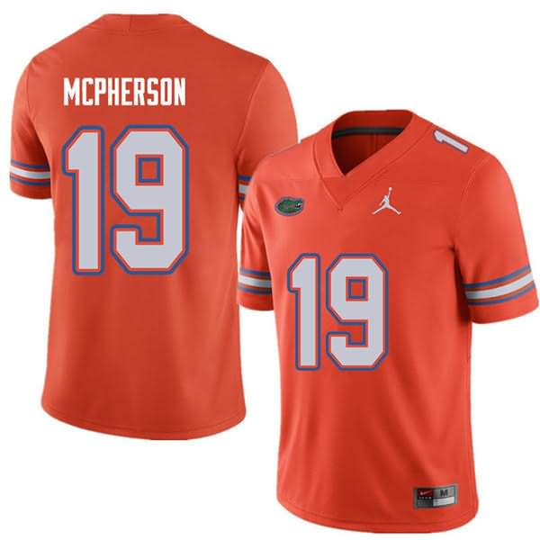 Men's Florida Gators #19 Evan McPherson Orange Jordan Brand NCAA College Football Jersey RYA403JJ