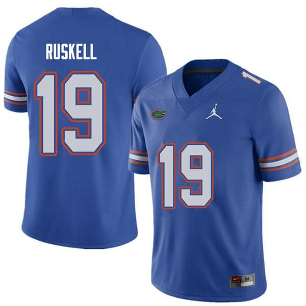 Men's Florida Gators #19 Jack Ruskell Royal Jordan Brand NCAA College Football Jersey KPH881DJ