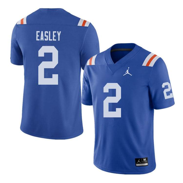 Men's Florida Gators #2 Dominique Easley Alternate Throwback Jordan Brand NCAA College Football Jersey GYJ285CJ