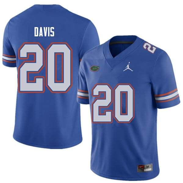 Men's Florida Gators #20 Malik Davis Royal Jordan Brand NCAA College Football Jersey XLR358AJ
