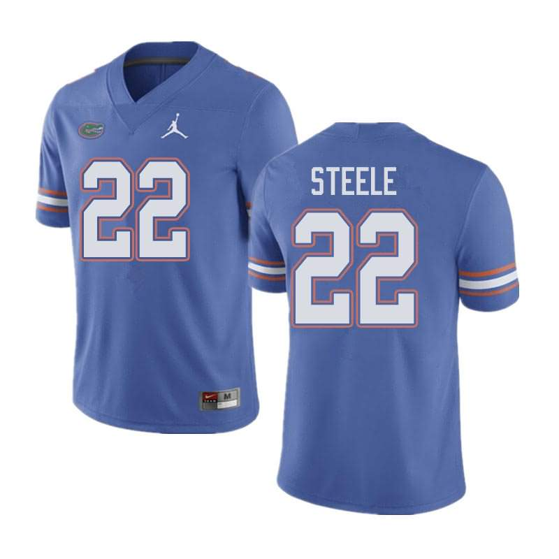 Men's Florida Gators #22 Chris Steele Blue Jordan Brand NCAA College Football Jersey DCL677MJ