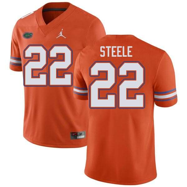 Men's Florida Gators #22 Chris Steele Orange Jordan Brand NCAA College Football Jersey KQY042SJ