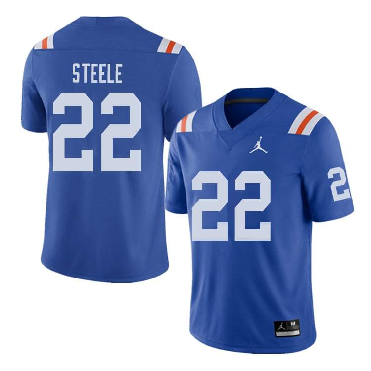 Men's Florida Gators #22 Chris Steele Alternate Throwback Jordan Brand NCAA College Football Jersey VCP057HJ