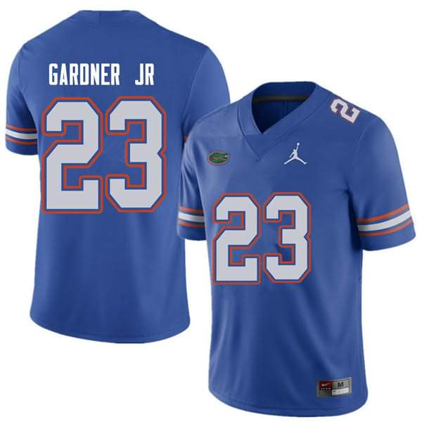 Men's Florida Gators #23 Chauncey Gardner Jr. Royal Jordan Brand NCAA College Football Jersey XYA175CJ