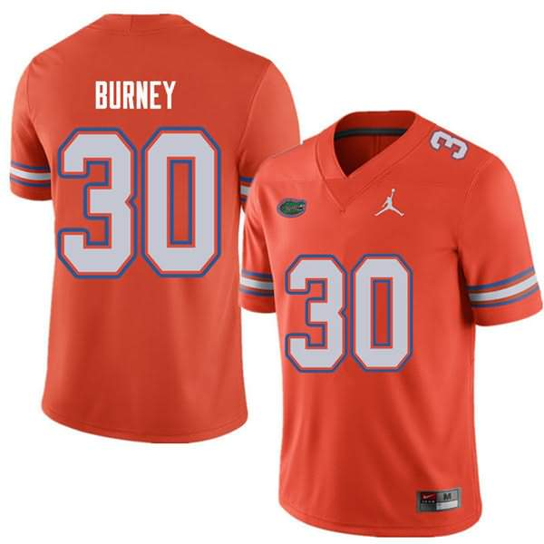 Men's Florida Gators #30 Amari Burney Orange Jordan Brand NCAA College Football Jersey XWA845BJ
