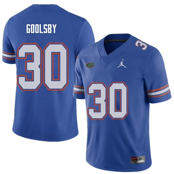 Men's Florida Gators #30 DeAndre Goolsby Royal Jordan Brand NCAA College Football Jersey WWC547MJ
