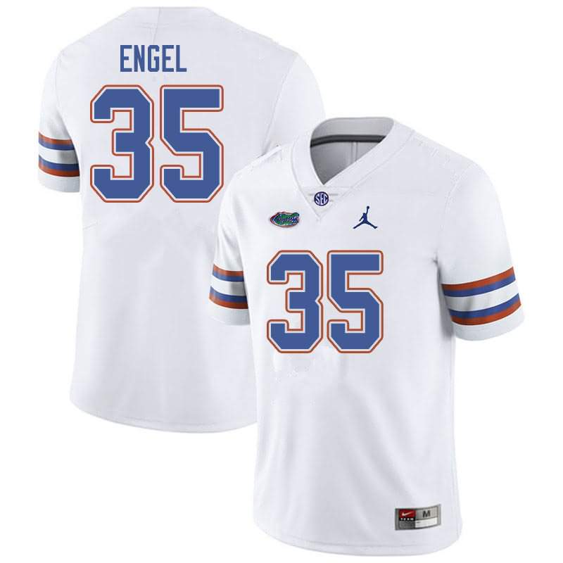 Men's Florida Gators #35 Kyle Engel White Jordan Brand NCAA College Football Jersey OGW364AJ