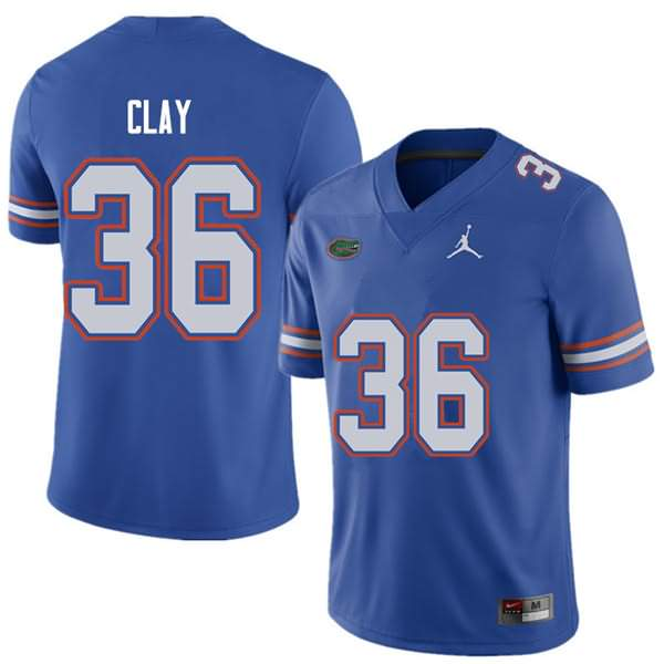 Men's Florida Gators #36 Robert Clay Royal Jordan Brand NCAA College Football Jersey VXH020ZJ