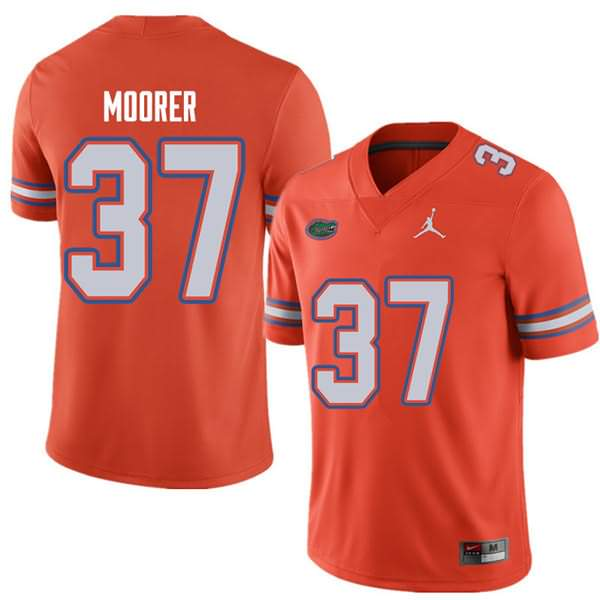 Men's Florida Gators #37 Patrick Moorer Orange Jordan Brand NCAA College Football Jersey HYZ627YJ