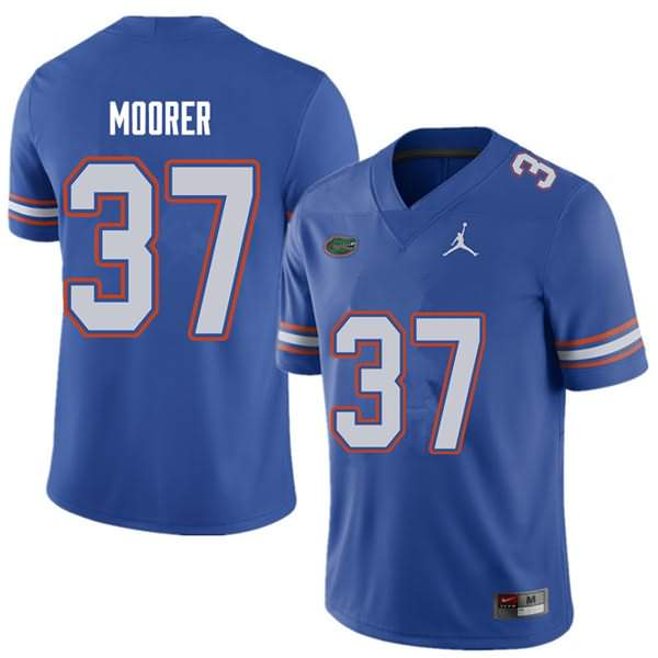 Men's Florida Gators #37 Patrick Moorer Royal Jordan Brand NCAA College Football Jersey COA785TJ