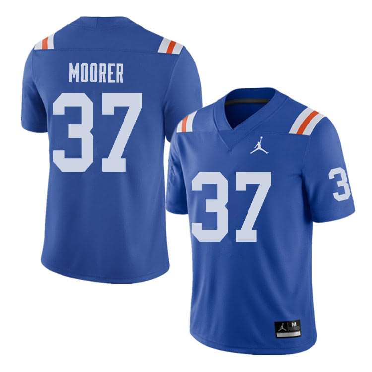 Men's Florida Gators #37 Patrick Moorer Alternate Throwback Jordan Brand NCAA College Football Jersey NZZ113ZJ