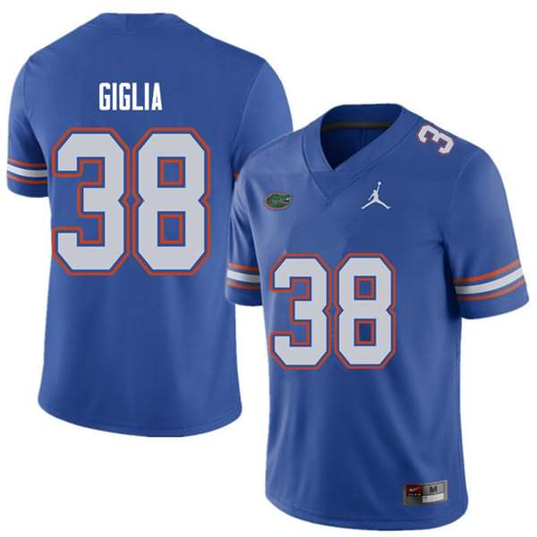 Men's Florida Gators #38 Anthony Giglia Royal Jordan Brand NCAA College Football Jersey HUQ415PJ