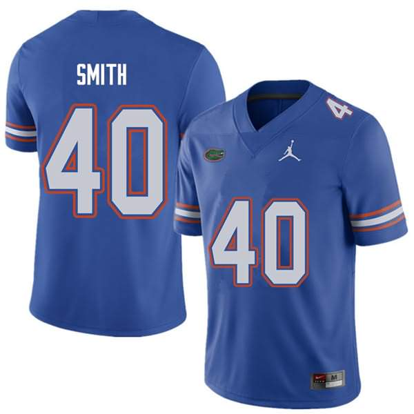 Men's Florida Gators #40 Nick Smith Royal Jordan Brand NCAA College Football Jersey XXJ488SJ