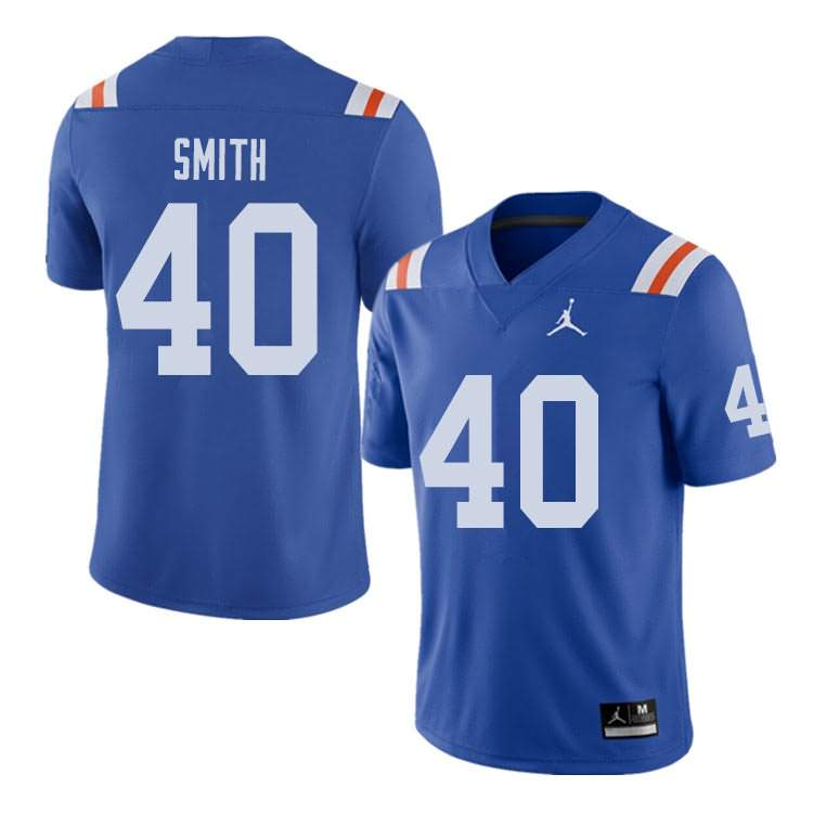 Men's Florida Gators #40 Nick Smith Alternate Throwback Jordan Brand NCAA College Football Jersey TDG680RJ
