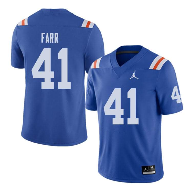 Men's Florida Gators #41 Ryan Farr Alternate Throwback Jordan Brand NCAA College Football Jersey CJP784CJ