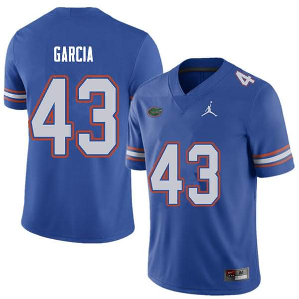 Men's Florida Gators #43 Cristian Garcia Royal Jordan Brand NCAA College Football Jersey CAF875CJ