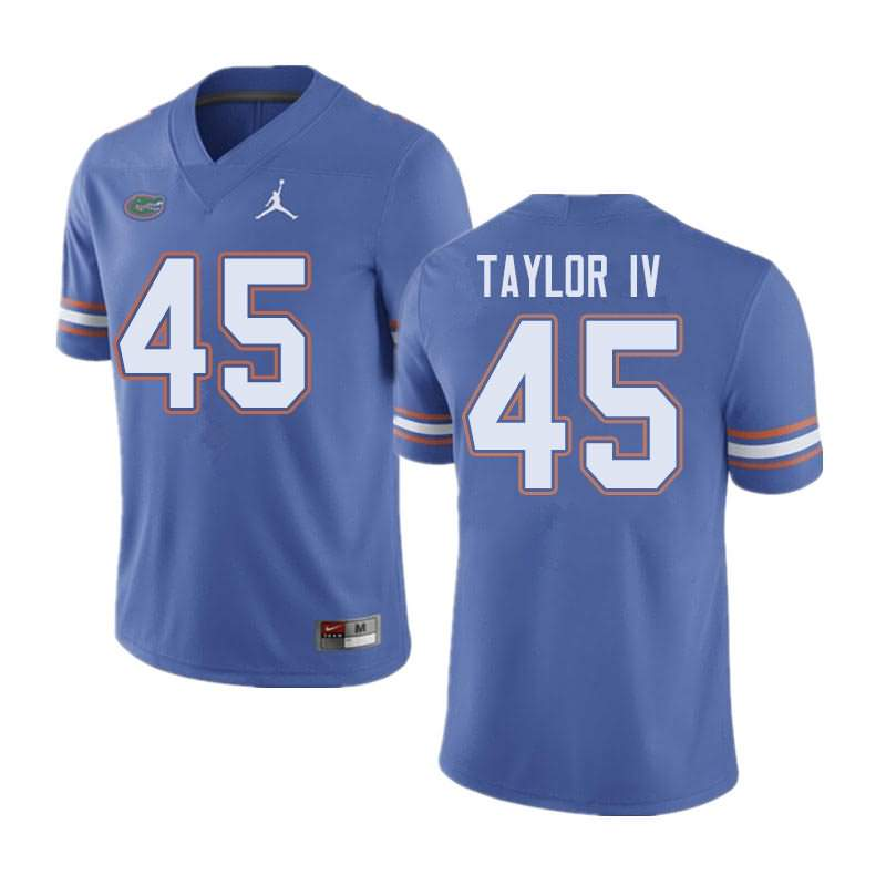 Men's Florida Gators #45 Clifford Taylor IV Blue Jordan Brand NCAA College Football Jersey RFV756SJ
