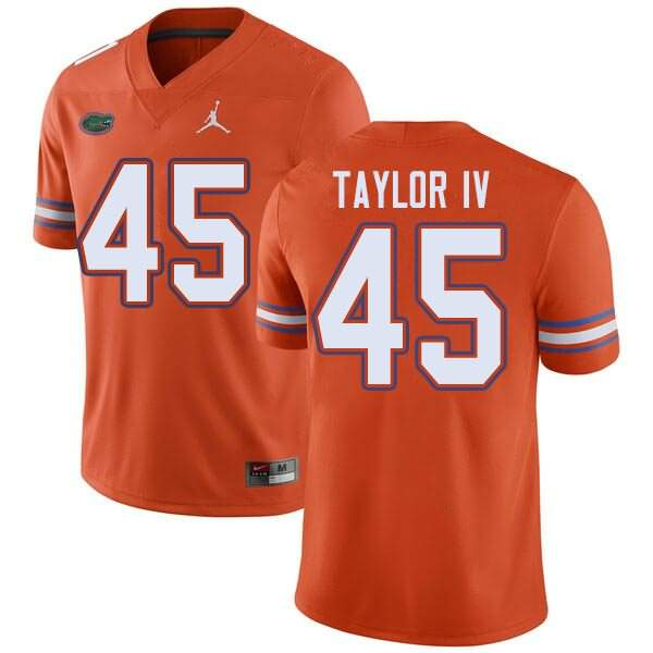Men's Florida Gators #45 Clifford Taylor IV Orange Jordan Brand NCAA College Football Jersey MWW438RJ