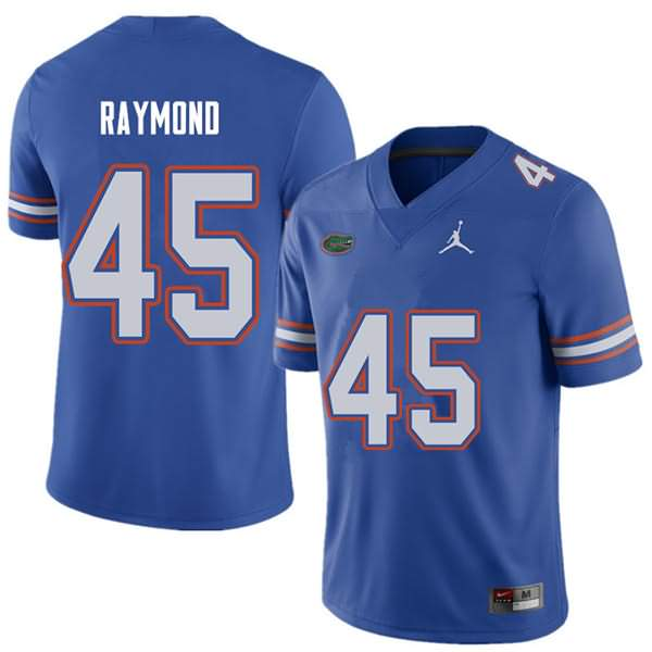 Men's Florida Gators #45 R.J. Raymond Royal Jordan Brand NCAA College Football Jersey KDE152DJ