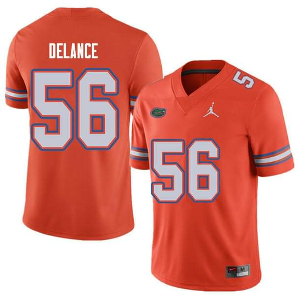 Men's Florida Gators #56 Jean DeLance Orange Jordan Brand NCAA College Football Jersey ELE802IJ