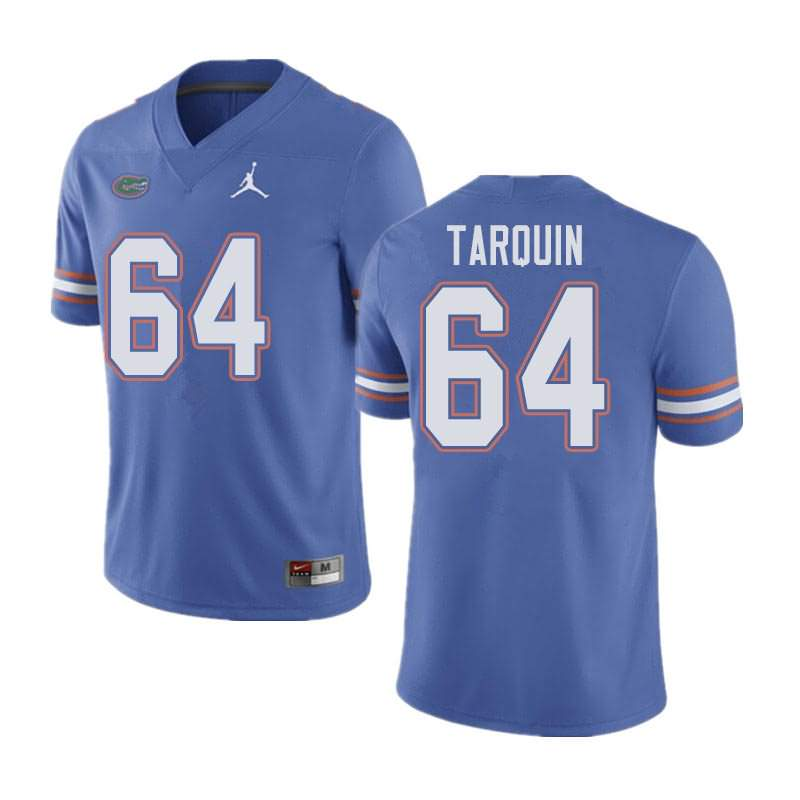 Men's Florida Gators #64 Michael Tarquin Blue Jordan Brand NCAA College Football Jersey KNB677UJ