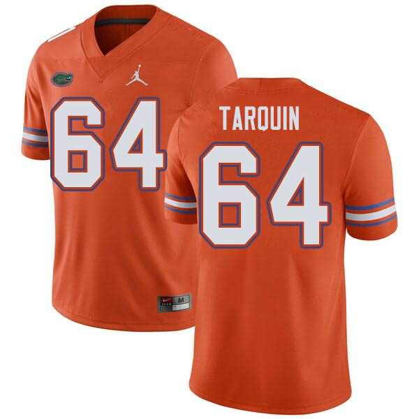 Men's Florida Gators #64 Michael Tarquin Orange Jordan Brand NCAA College Football Jersey PUA346VJ