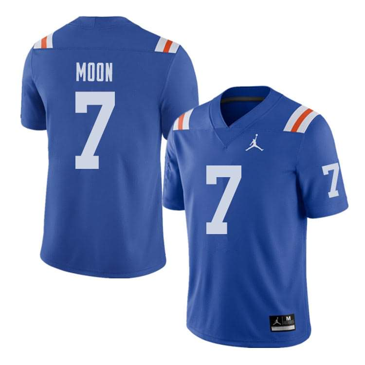 Men's Florida Gators #7 Jeremiah Moon Alternate Throwback Jordan Brand NCAA College Football Jersey FZA265PJ