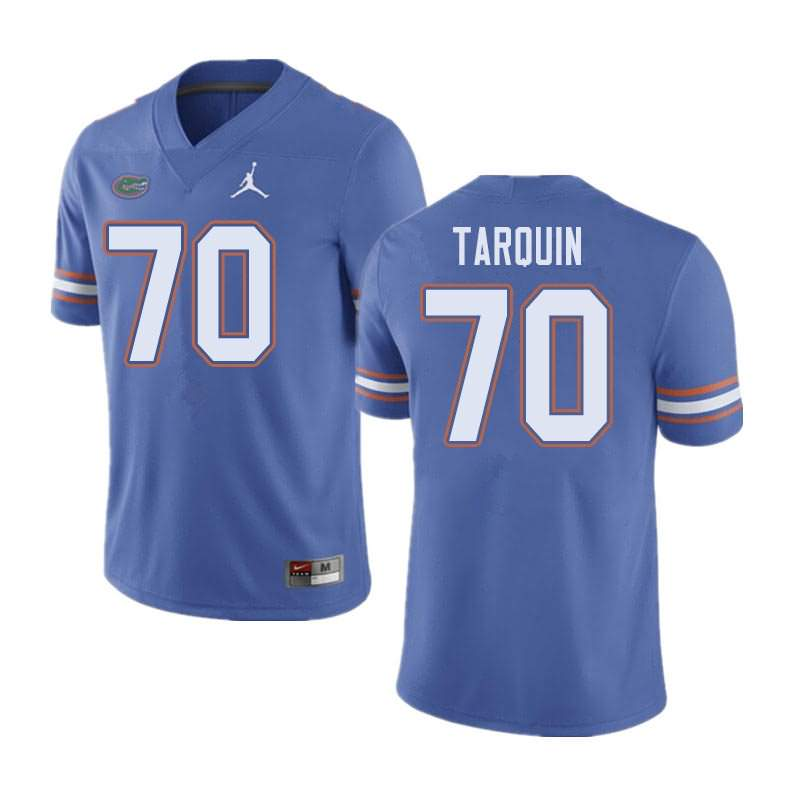 Men's Florida Gators #70 Michael Tarquin Blue Jordan Brand NCAA College Football Jersey MIH558HJ