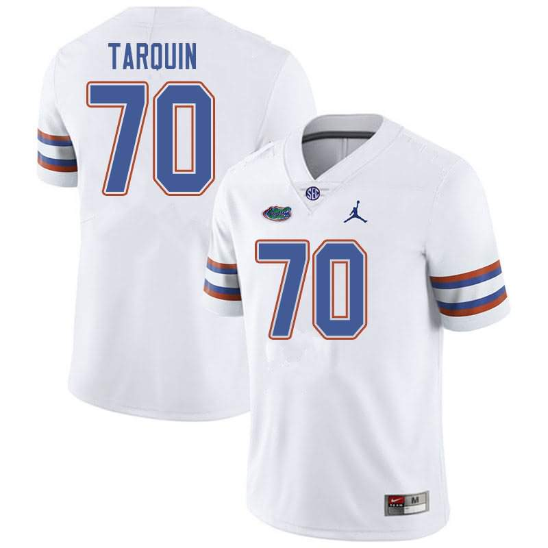 Men's Florida Gators #70 Michael Tarquin White Jordan Brand NCAA College Football Jersey LBJ640TJ