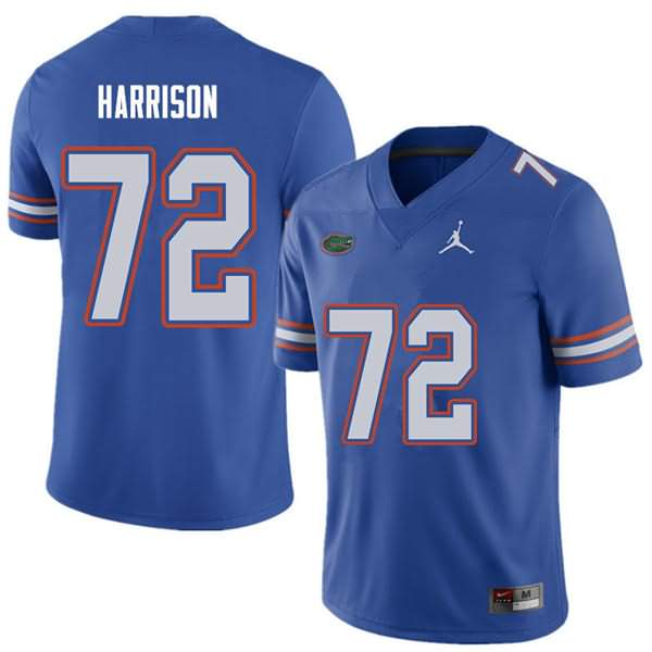 Men's Florida Gators #72 Jonotthan Harrison Royal Jordan Brand NCAA College Football Jersey RFP282PJ