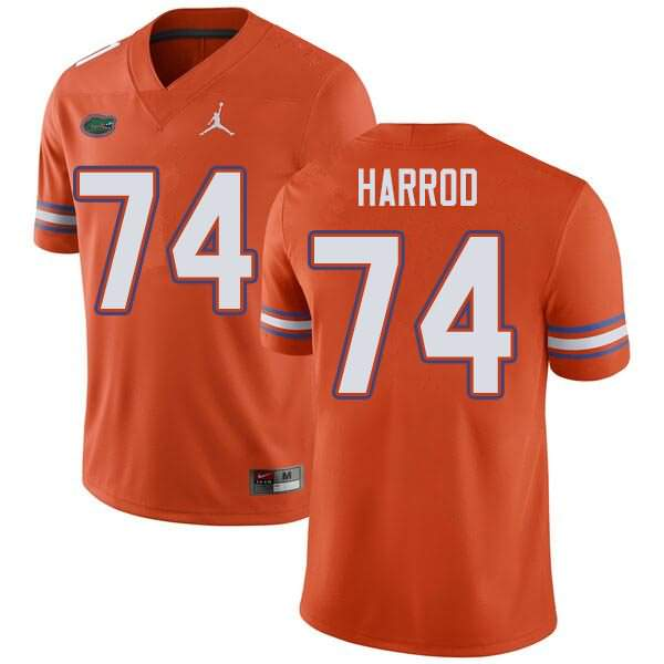 Men's Florida Gators #74 Will Harrod Orange Jordan Brand NCAA College Football Jersey OGL554EJ