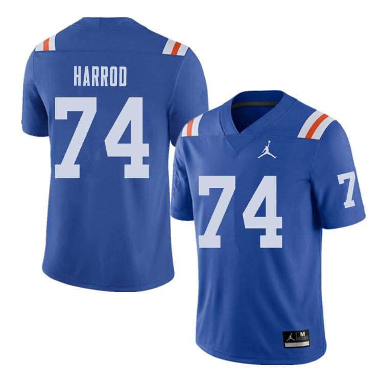 Men's Florida Gators #74 Will Harrod Alternate Throwback Jordan Brand NCAA College Football Jersey BMG076FJ
