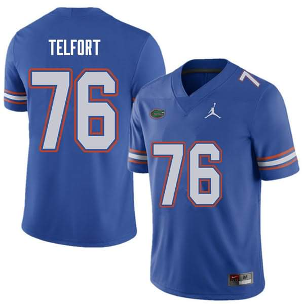 Men's Florida Gators #76 Kadeem Telfort Royal Jordan Brand NCAA College Football Jersey ODL827JJ