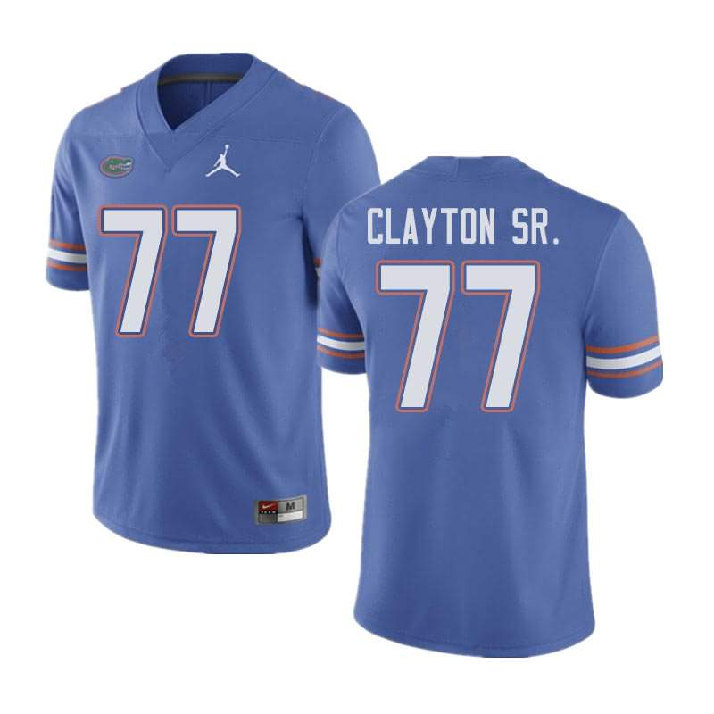 Men's Florida Gators #77 Antonneous Clayton Sr. Blue Jordan Brand NCAA College Football Jersey HEG708AJ