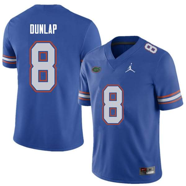 Men's Florida Gators #8 Carlos Dunlap Royal Jordan Brand NCAA College Football Jersey GTK014AJ