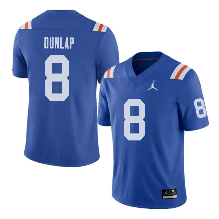 Men's Florida Gators #8 Carlos Dunlap Alternate Throwback Jordan Brand NCAA College Football Jersey LJI325AJ
