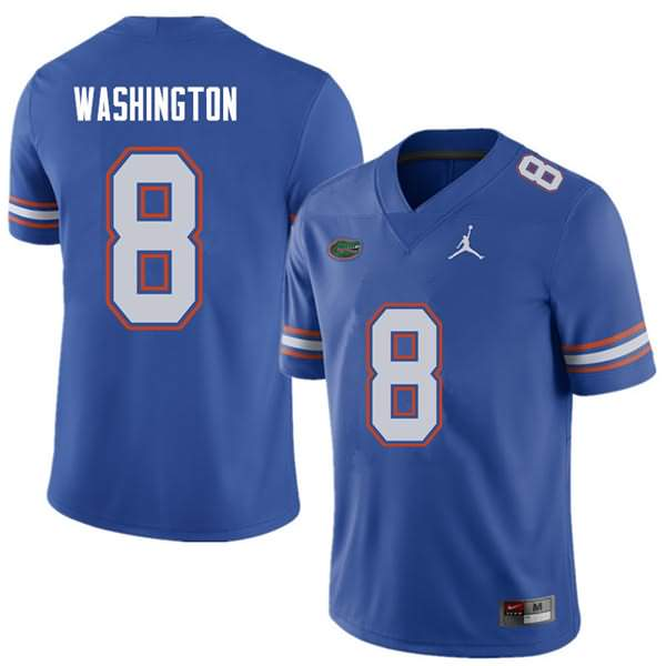 Men's Florida Gators #8 Nick Washington Royal Jordan Brand NCAA College Football Jersey YJL017NJ