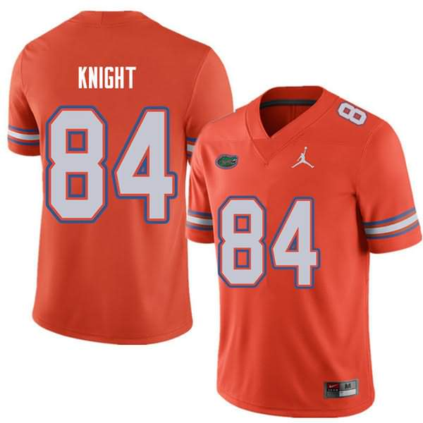 Men's Florida Gators #84 Camrin Knight Orange Jordan Brand NCAA College Football Jersey YLE452CJ