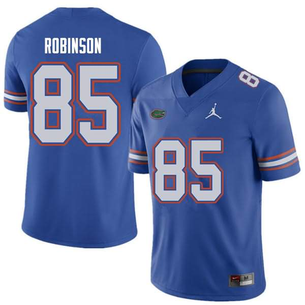 Men's Florida Gators #85 James Robinson Royal Jordan Brand NCAA College Football Jersey DKF608NJ