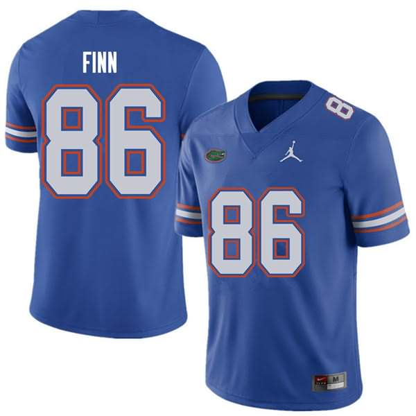 Men's Florida Gators #86 Jacob Finn Royal Jordan Brand NCAA College Football Jersey DPO723UJ