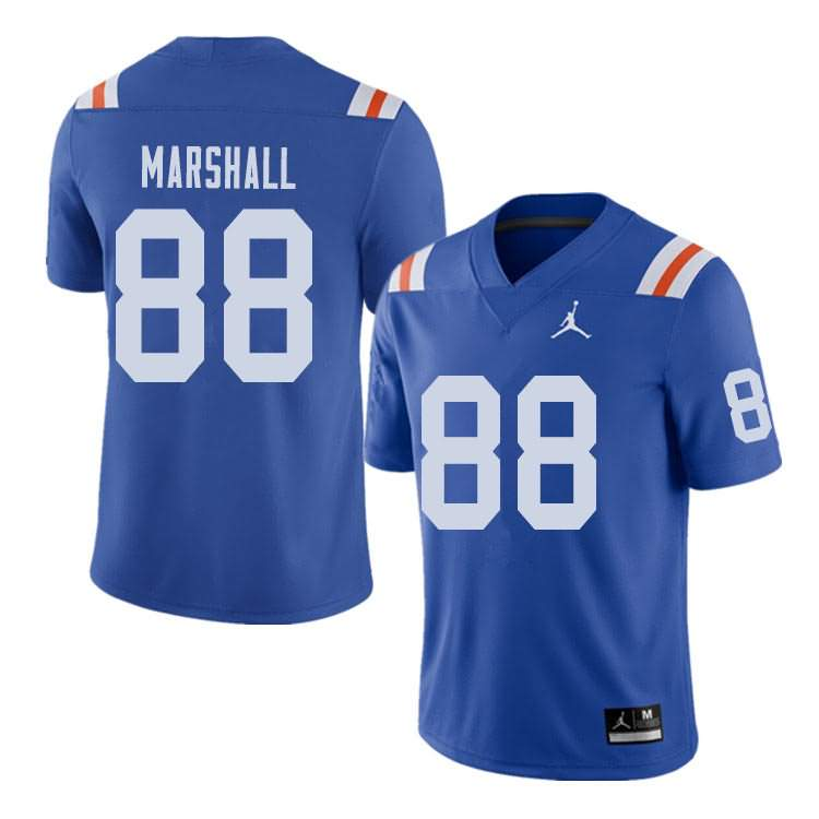 Men's Florida Gators #88 Wilber Marshall Alternate Throwback Jordan Brand NCAA College Football Jersey MXR121DJ